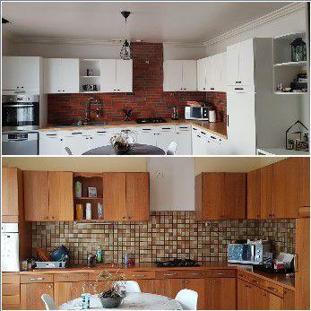 L\'Atelier Peinture décorateur - Une cuisine relookée avec ...